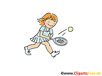 Tennis clip arts gratuits - Raquette illustrations