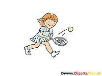 Tennis clip arts gratuits - Raquette illustrations