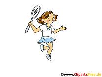 Tennis dessin à télécharger - Badmington images