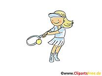 Tennis image - Raquette images cliparts