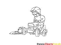 Tracteur dessin gratuit à imprimer