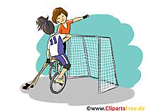 Unicycle hockey clip art gratuit