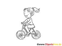 Vélo dessin à imprimer - Bicyclette cliparts