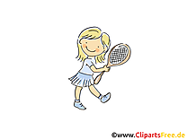 Volant clip arts gratuits - Tennis illustrations