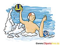 Water-polo image à télécharger - Sport clipart