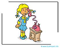 Appele clip art – Téléphone image gratuite