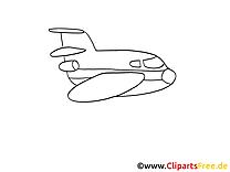 Avion dessin gratuit à colorier