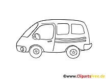 Mini-bus coloriage images gratuites
