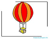 Montgolfière dessin gratuit à télécharger