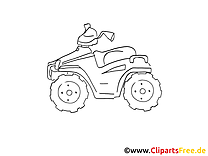 Quad illustration gratuite clipart