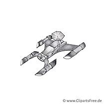 Vaisseau spatial illustration à imprimer