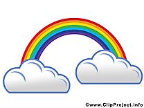 Arc-en-ciel dessin gratuit - Nuages image gratuite