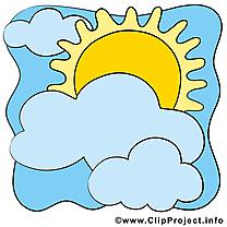 Beau Temps clip art – Soleil image gratuite
