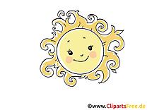 Chaleur clipart gratuit - Soleil images gratuites
