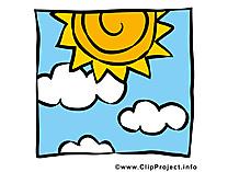 Ciel clipart gratuit - Soleil images gratuites