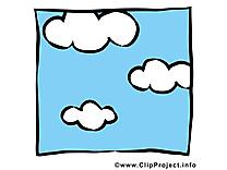 Ciel dessin - Nuages cliparts à télécharger