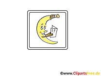 Croissant image gratuite - Lune cliparts