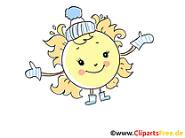 Hiver dessin - Soleil cliparts à télécharger