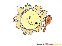 Miroir clip arts gratuits - Soleil illustrations
