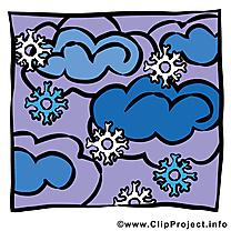 Neige dessin - Nuée cliparts à télécharger