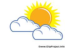 Nuages clip art gratuit – Soleil images gratuites