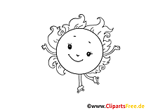 Patins à roulettes coloriage - Soleil images gratuites