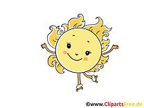 Patins à roulettes dessin - Soleil clip art gratuit