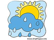 Pluie illustration gratuite - Soleil clipart