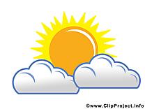 Soleil clip art gratuit – Nuages images gratuites