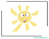 Soleil dessin gratuit - Beau temps clip arts gratuits