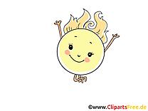 Soleil dessin gratuit à télécharger