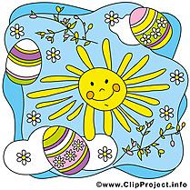 Soleil image gratuite – Pâques clipart