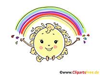 Soleil images - Arc-en-ciel clip art gratuit
