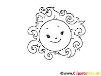 Soleil images à imprimer gratuites