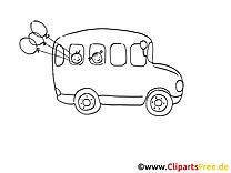 Bus scolaire image à imprimer clipart