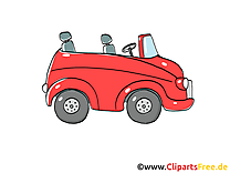 Cabriolet clip arts gratuits illustrations