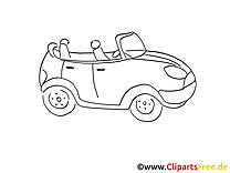 Cabriolet dessin gratuit à imprimer