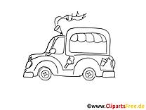 Camion de crème glacée clip art à imprimer gratuit