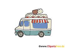 Camion de crème glacée clip art gratuit dessin