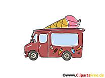 Camion de crème glacée clipart gratuit images