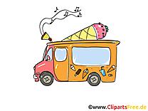 Camion de crème glacée dessin gratuit à télécharger