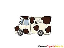Camionnette du laitier illustration gratuite clipart