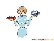 Femme et voitures dessin gratuit à télécharger