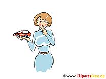 Femme voiture image gratuite illustration