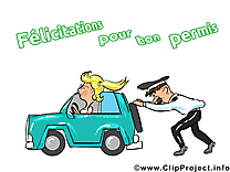 Policier illustration - En panne images gratuites