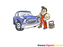 Station-service illustration gratuite clipart