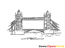 Angleterre images - Tower bridge clip art gratuit
