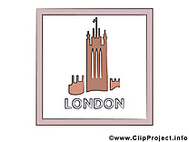 Angletterre carte virtuelle gratuite - Londres clip art