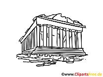 Athènes dessin gratuit - Grèce image gratuite