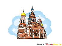 Basilique russe illustration - Moscou carte gratuite